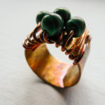 Anello in rame con malachite