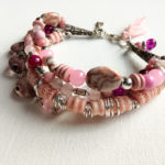 Boho pink bracelet