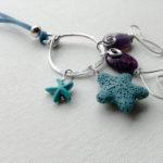 Collana stile mare pesci azzurri viola