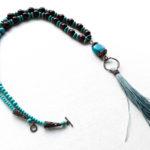 Turquoise boho chic necklace