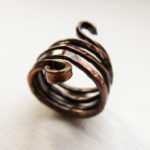 Copper ring oxidized