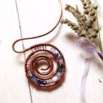 Copper wire swarovsky choker